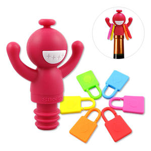 Wine Accessories Custom Silicone Wine Stoppers/ Charms