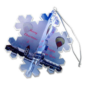 Custom Acrylic Christmas Ornaments and Acrylic Bag Tags
