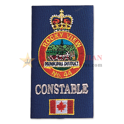 Embroidered Crown Epaulette
