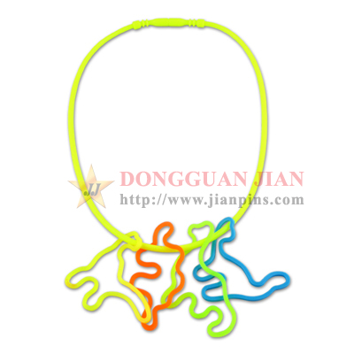 Silicone Necklace with Silly Bandz