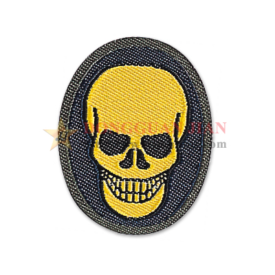 Custom Skull Patch Tecido