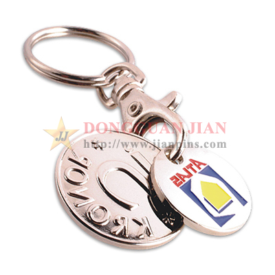 Custom caddy coin keyring
