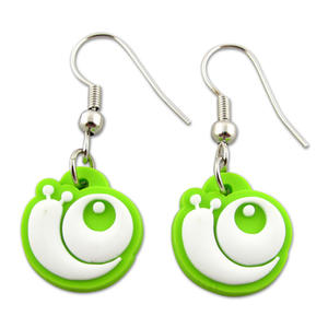 Soft PVC Chain Earrings for Girls