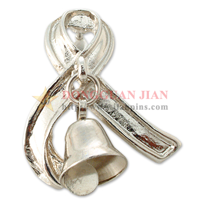 Christmas Bell Pewter Badges