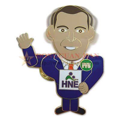 Custom Bobble Head Badges publicitaires
