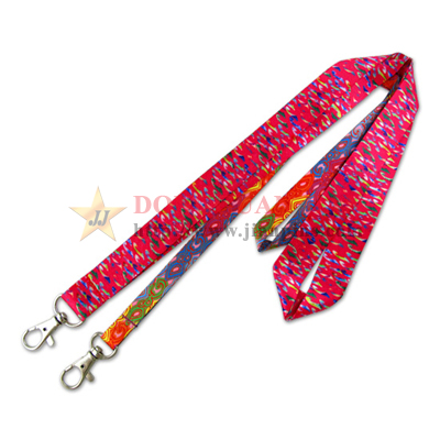 Dual Color Nylon Lanyards