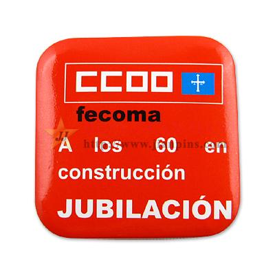 Badge personnalisé d'impression de bouton de logo