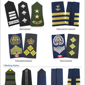Custom Navy Air Force Shoulder Boards Insignia Embroidery Military Ranks
