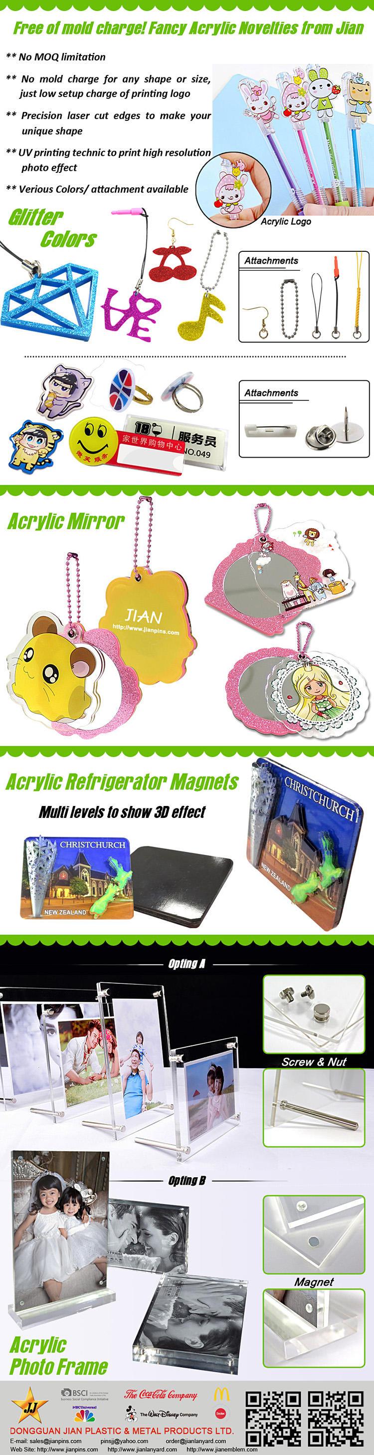 Adorables et durables ornements en acrylique de JIAN