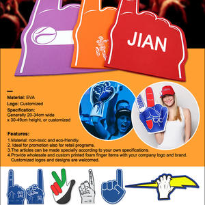 wholesaler foam finger hand-custom foam fingers offered