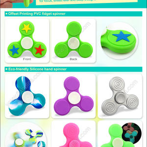 New arrival silicone & rubber fidget spinner for sale.