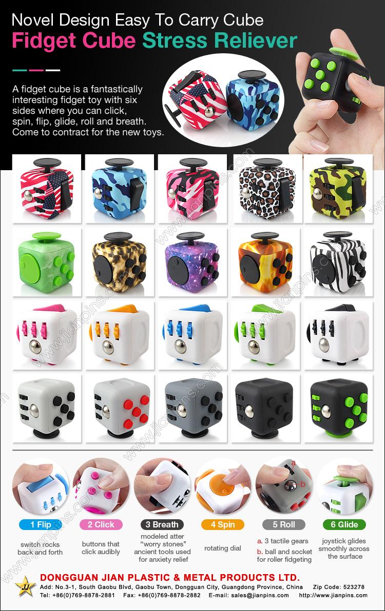 6 sides anti-stress fidget cube