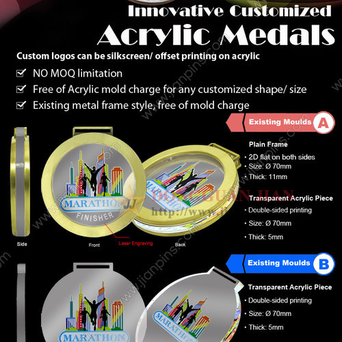 Innovative Customized Acrylic Medals from JIAN