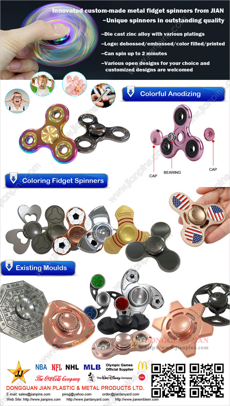 Innovated Custom-made Metal Fidget Spinner Von JIAN