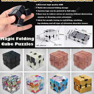 Stress Reliever Infinity Fidget Cube, Magic Folding Cube Puzzle