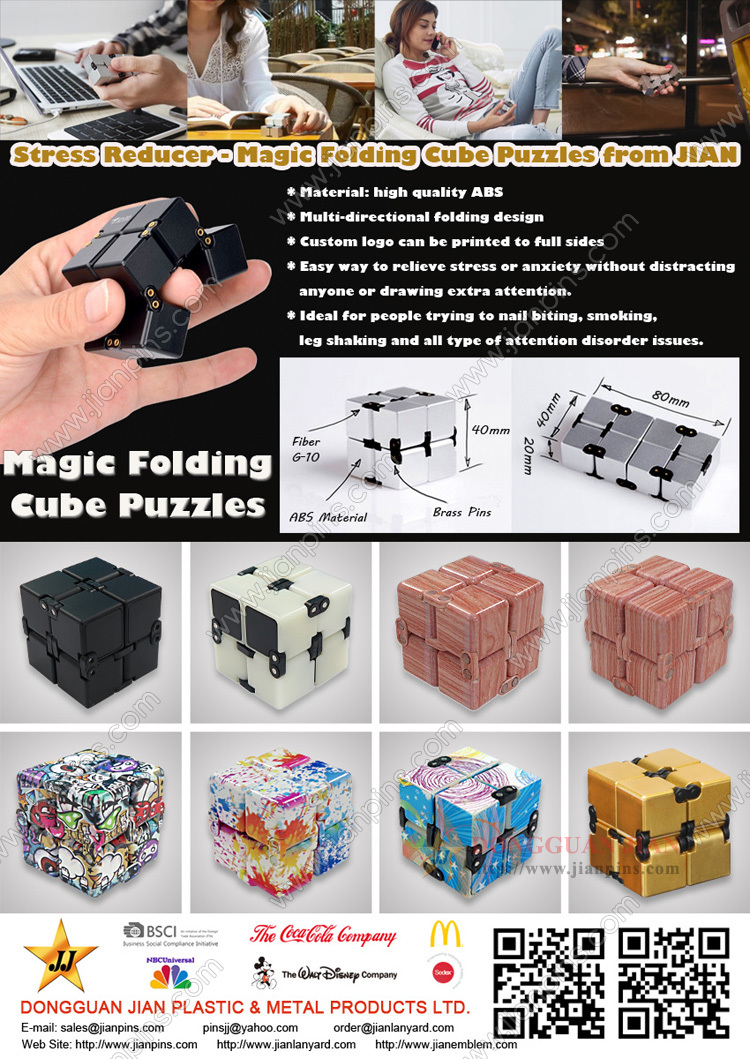 Infinity Fidget Cube Stress Reliever Toy, Magic Folding Cube Puzzles De JIAN