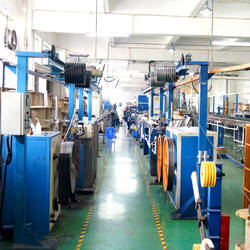 Wire drawing machine of fiber optic cable production