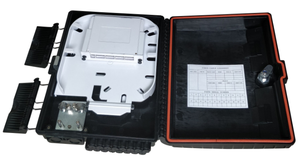 Plastic fiber optic terminal box