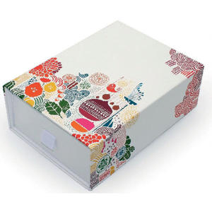 China paper cosmetic packaging, folding gift box supplier