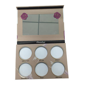 Paper make up palette for eye shadow with mirror