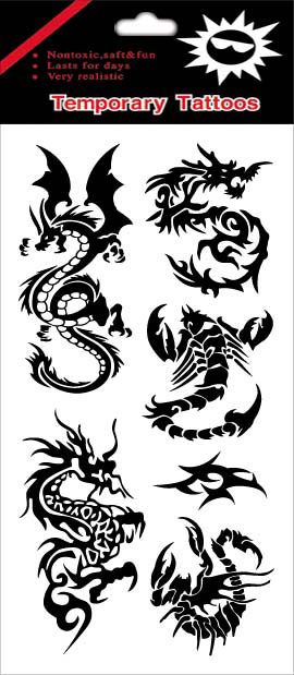 black color  tattoo sticker