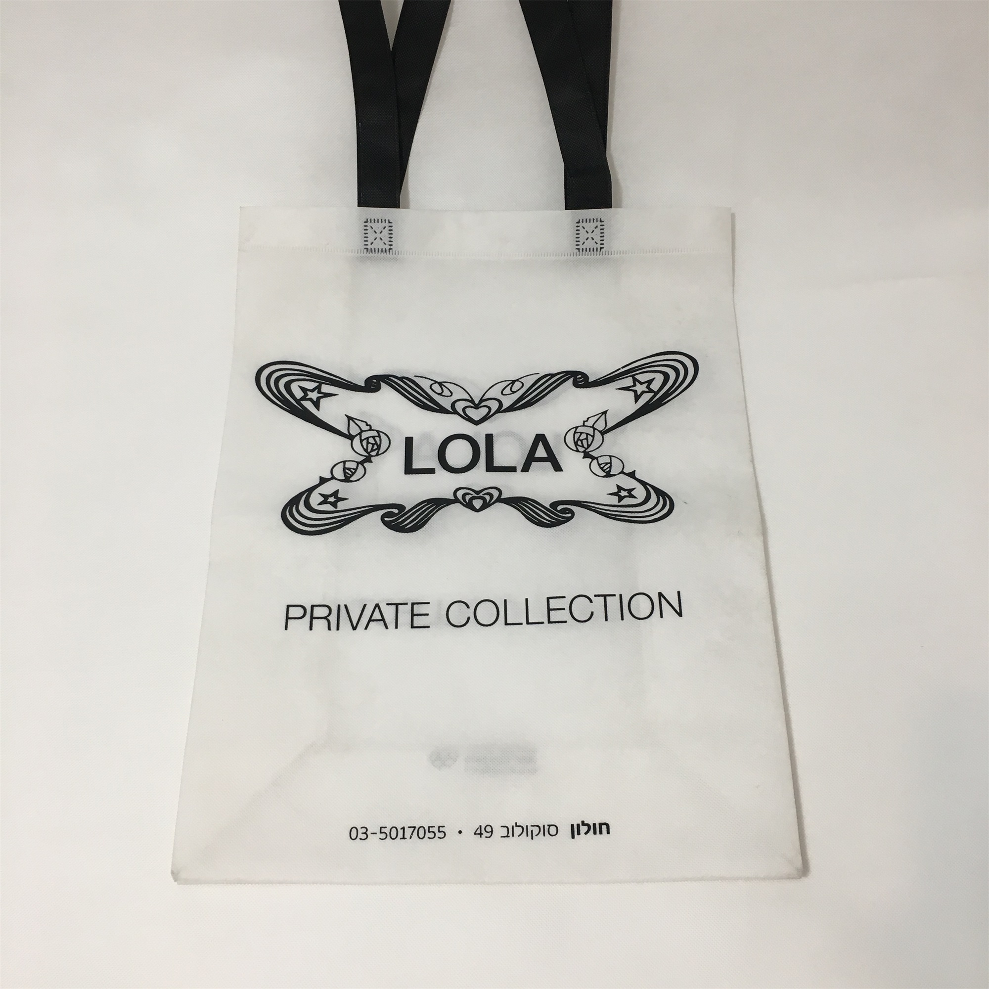 tridimensional non-woven shopping bag with side and bottom gusset