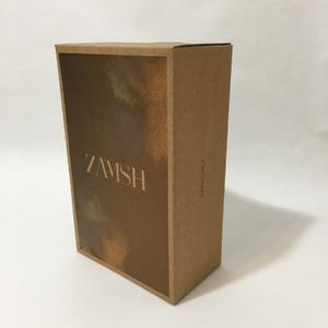 fold able shoes box with corrugated material, kraft corrugate material