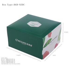 Cake Box With Inner Pocket For Cake Tray And Fork