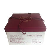 rope handle cake box with lid and bottom