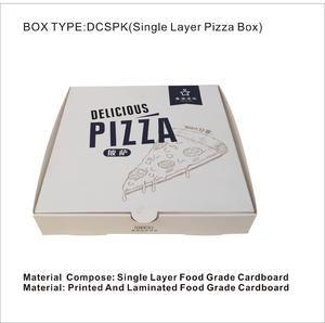 logo printing customize single layer material food grade cardboard pizza box