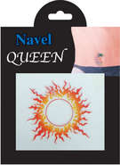 navel  tattoo sticker