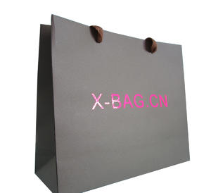 brown kraft paper bag with bright color logo sticked