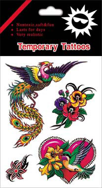 colorful  tattoo sticker
