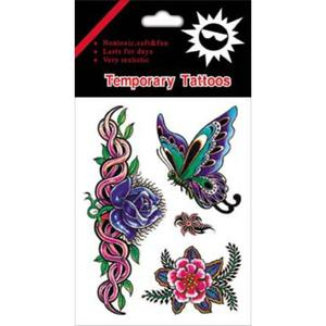 color tattoo sticker design and production