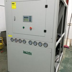 64500Kcal/H cooling capacity air chillers for Wood plastic plate