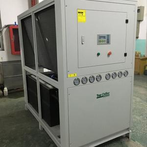 closed loop system tank coil evaporator air chiller in calendering machine