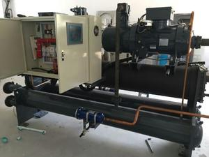 Water Cooled Screw Chiller With 2 Compressors For Yogurt Machine And Milk Cooling