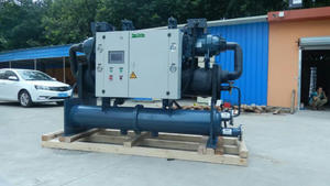 industrial water cooled screw type glycol chiller factory manufacture
