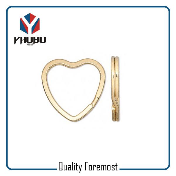 Light Gold Heart Shape Key Ring