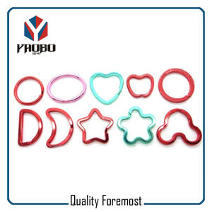 Colorfull Shaped Key Ring,colored split ring