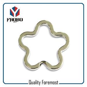 Flower Shape Split Ring,flower key ring split ring