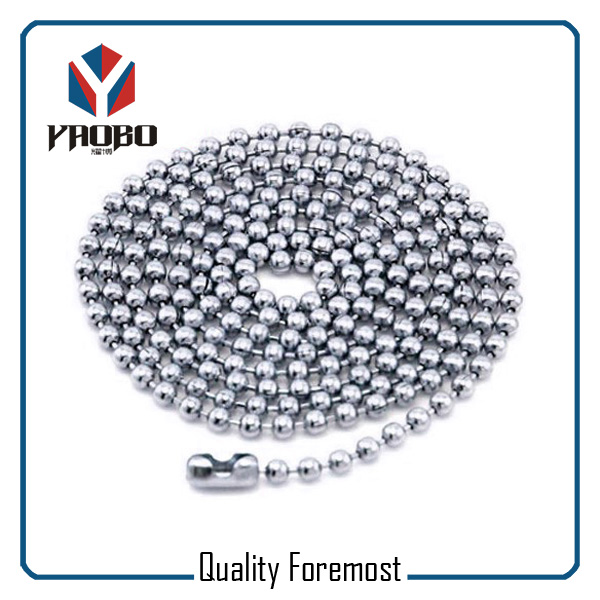 Stainless Steel Ball Chain With Connector