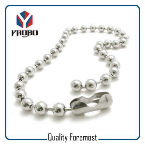 2.4mm Stainless Steel Ball Chain,ball chain self color