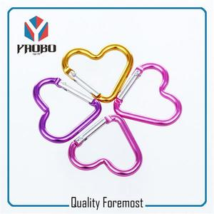 Heart Shape Carabiner,colored Heart shape Carabiner