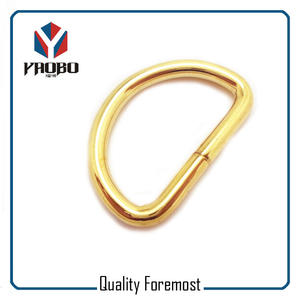 Gold color D Ring, Iron D Ring,shinny gold D Ring