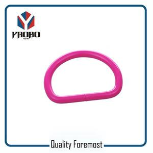 Metal D Ring,Pink color d ring,shinny pink d ring