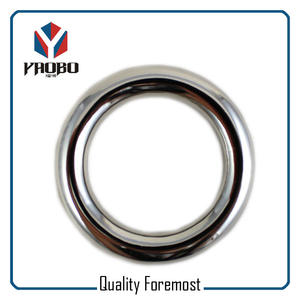 Welded O ring,Polished Round Ring,silver O ring