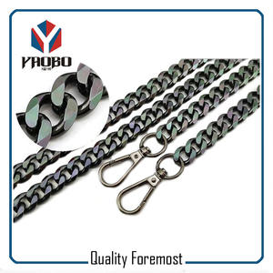Black color chain,curb chain,iron chain for bags