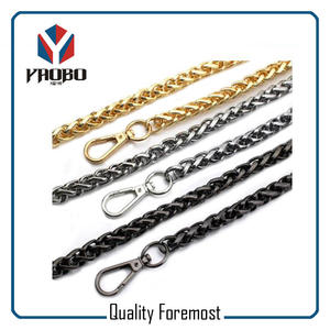 Gold color chain for purse,Black color chain for bags