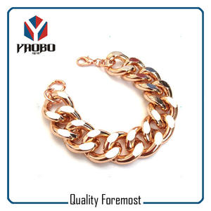 Rose Gold Chain For Bracelet,curb chain for bracelet